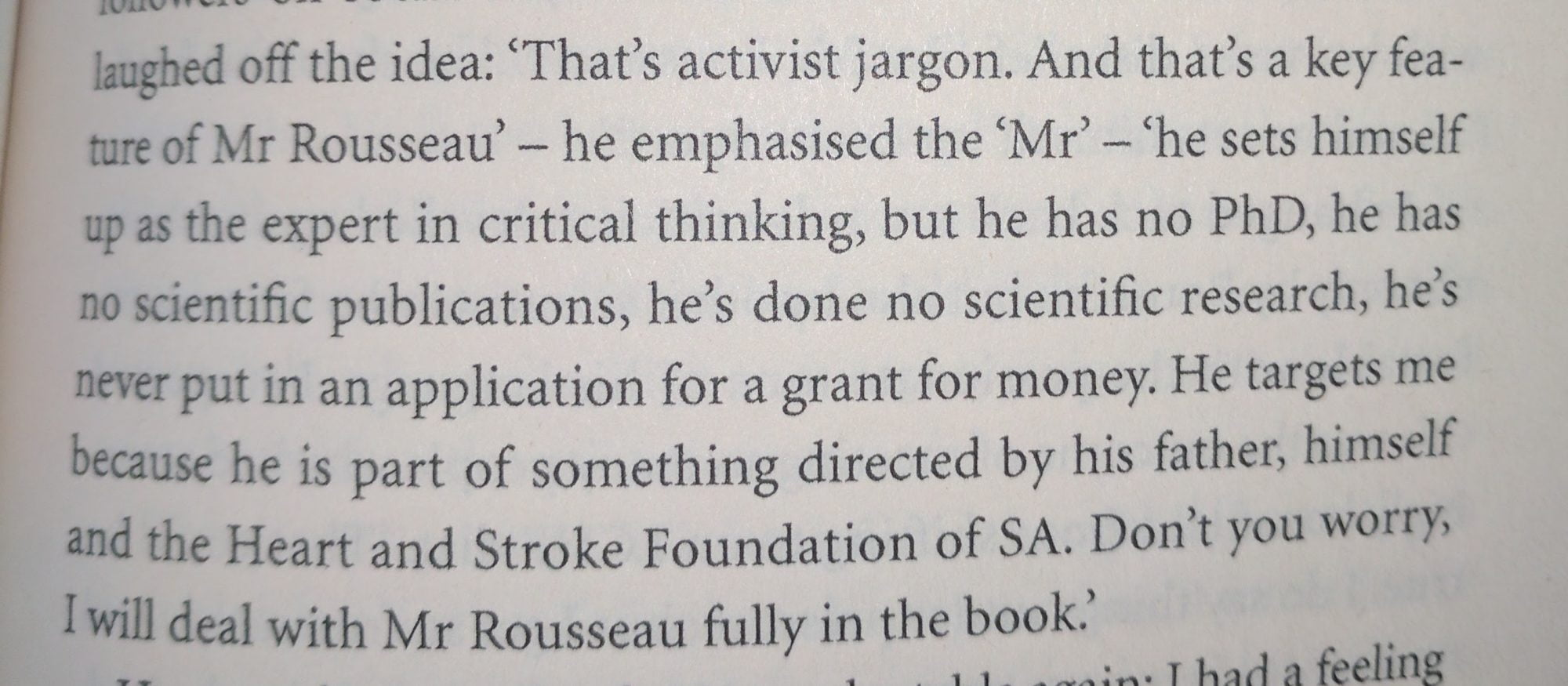 "Text from From Daryl Ilbury's ""The Quiet Maverick"" (2017)"